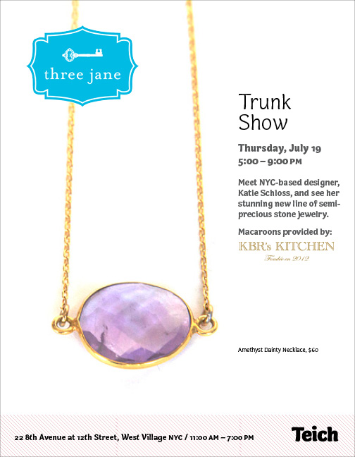 Haute On The Spot Events Three Jane Jewelry Trunk Show Tonight