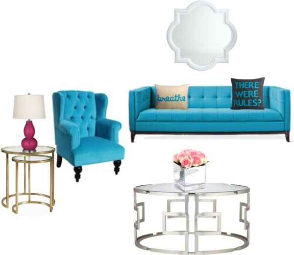 """A """"Three Jane Blue"""" Inspired Living Room"""
