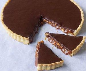 Chocolate Caramel Almond Tart
