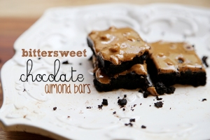 Bittersweet Chocolate Almond Bars Recipe