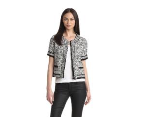 McGinn Women's Kitty Short Sleeve Tweed Jacket