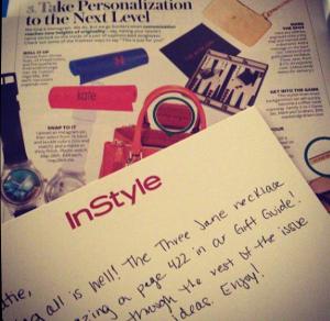 Three Jane NY in InStyle Magazine